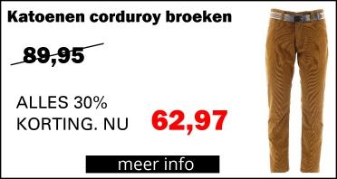 Henk ter Horst Katoenen Corduroy Broeken