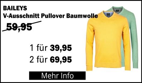 Baileys Pullover mit V-Ausschnitt 100% Baumwolle
