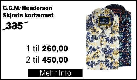 G.C.M Henderson Skjorte kortærmet