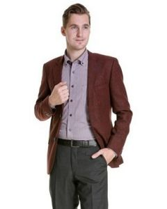 Colbert Tweed, bordeaux rood