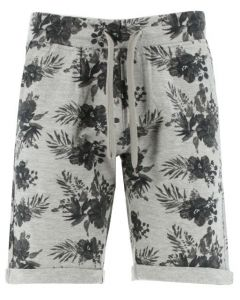 Sea Barrier short print sweatstof bermuda multi