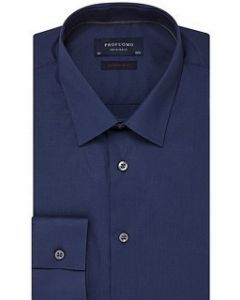 Profuomo overhemd extra slim fit stretch navy