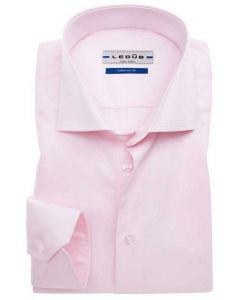 Ledub overhemd tailored fit roze