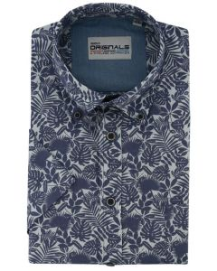 Gcm Originals overhemd botanical navy