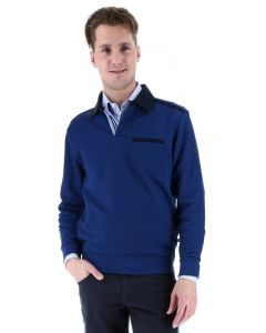 Meantime polo pullover, blauw
