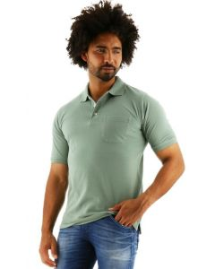 Redmond poloshirt regular fit korte mouw groen