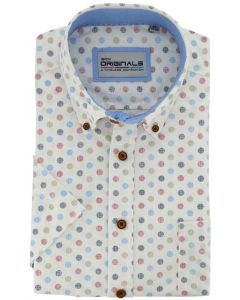 Gcm Originals overhemd big men fit dot dessin rood