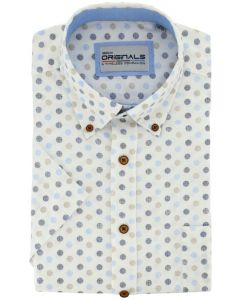 Gcm Originals overhemd big men fit dot dessin blauw