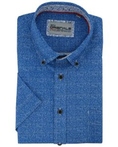 Gcm Originals overhemd big men fit melange blauw