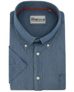 Gcm Originals overhemd big men fit blue