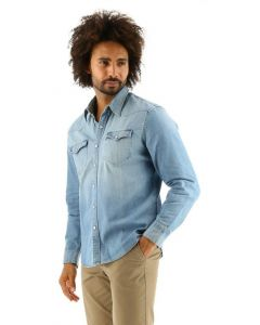 Levi's overhemd light denim