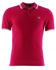 Fred Perry poloshirt, dieprood