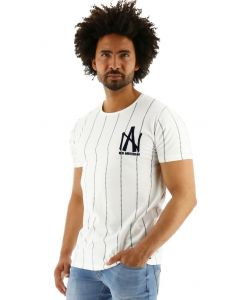 Amsterdenim t-shirt baseball tee Jan Kees off white