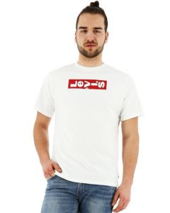 Levi's t-shirt lazy logo tee normal fit korte mouw wit