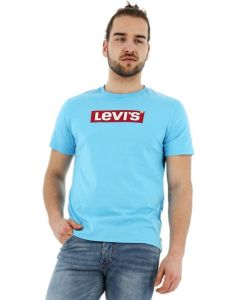 Levi-s t-shirt grapic tee normal fit korte mouw blauw