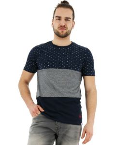 Jack & Jones Tobi T-shirt regular fit korte mouw navy
