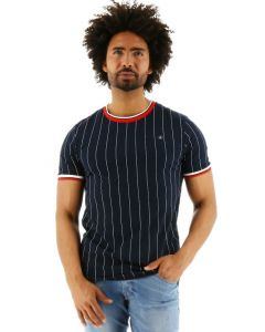Jack & Jones Stripe Tee Crew Neck T-shirt total eclipse