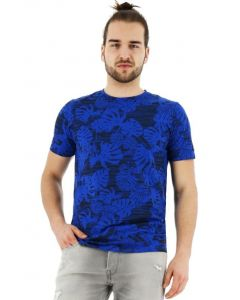 Jack & Jones Floris T-shirt regular fit korte mouw blauw