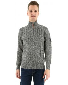 Jack & Jones trui Jorjay knit zip grijs