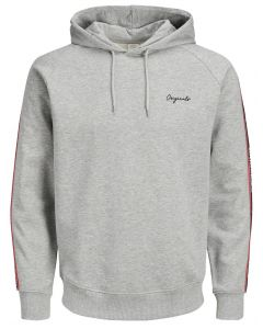 Jack & Jones sweater Jortape sweathood grey