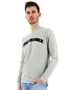 Kultivate sweater stay humble regular fit grey melange