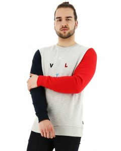 Kultivate sweater regular fit colormix grey melange