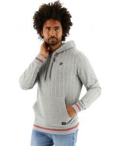 Jack & Jones Stripe Sweat Hood regular fit light grey