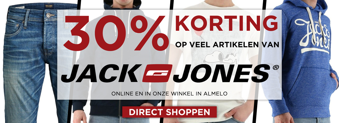 Jack and Jones NL korting 30%